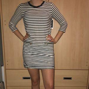 Navy & white Gap striped mini dress